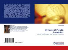 Bookcover of Mysteries of Pseudo-Translation: