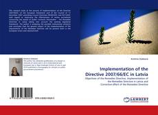 Bookcover of Implementation of the Directive 2007/66/EC in Latvia