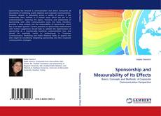 Bookcover of Sponsorship and Measurability of Its Effects