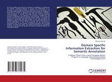 Couverture de Domain Specific Information Extraction for Semantic Annotation