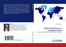 Couverture de Project business as a strategic choice