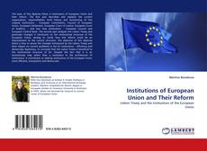 Capa do livro de Institutions of European Union and Their Reform
