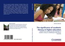 Bookcover of The significance of academic literacy in higher education