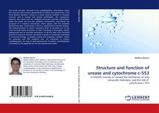 Bookcover of Structure and function of urease and cytochrome c-553