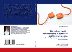 Capa do livro de The role of quality requirements in software architecture design