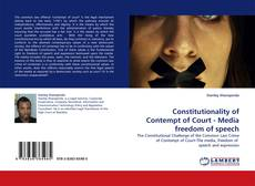 Bookcover of Constitutionality of Contempt of Court - Media freedom of speech
