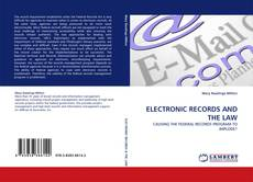 Обложка ELECTRONIC RECORDS AND THE LAW