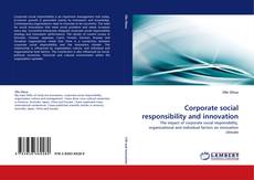 Bookcover of Corporate social responsibility and innovation