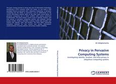 Privacy in Pervasive Computing Systems kitap kapağı