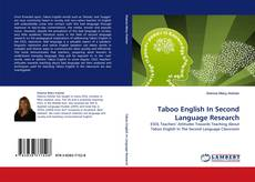 Обложка Taboo English In Second Language Research