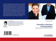 Bookcover of Formality in Business Correspondence