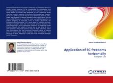 Capa do livro de Application of EC freedoms horizontally