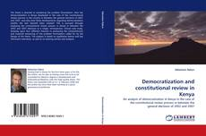 Capa do livro de Democratization and constitutional review in Kenya