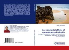 Обложка Environmental effects of aquaculture and oil spills