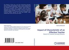 Bookcover of Impact of Characteristic of an Effective Teacher