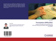 Buchcover von Translation Difficulties