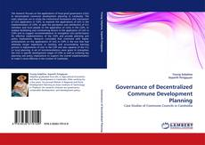 Portada del libro de Governance of Decentralized Commune Development Planning