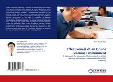 Bookcover of Effectiveness of an Online Learning Environment