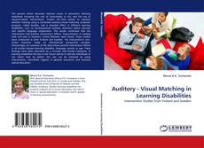 Copertina di Auditory - Visual Matching in Learning Disabilities