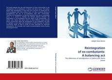 Bookcover of Reintegration of ex-combatants: A balancing act