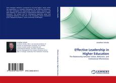 Bookcover of Effective Leadership in Higher Education