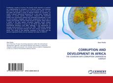 Bookcover of CORRUPTION AND DEVELOPMENT IN AFRICA
