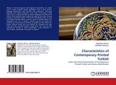 Bookcover of Characteristics of Contemporary Printed Turkish