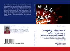 Analysing university RPL policy responses to Government policy on RPL kitap kapağı