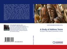 Bookcover of A Study of Address Terms