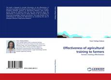 Bookcover of Effectiveness of agricultural training to farmers