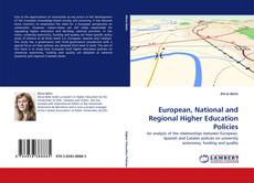 Bookcover of European, National and Regional Higher Education Policies