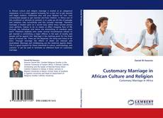 Buchcover von Customary Marriage in African Culture and Religion
