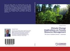 Buchcover von Climate Change Implications on Forests Resource Management