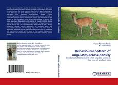 Behavioural pattern of ungulates across density kitap kapağı