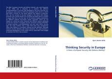 Thinking Security in Europe kitap kapağı