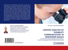 Buchcover von CONTENT ANALYSIS OF 'DISABILITY COMMUNICATION' IN NEWSPAPER DAILIES