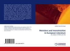 Monsters and monstrosities in European Literature kitap kapağı