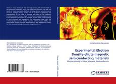 Buchcover von Experimental Electron Density–dilute magnetic semiconducting materials