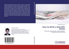 Bookcover of How to Write a Scientific Article