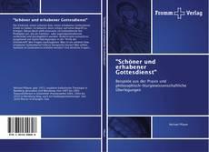 """Buchcover von """"Schöner und erhabener Gottesdienst"""""""