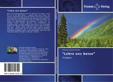 "Copertina di ""Lehre uns beten"""
