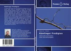 Capa do livro de Rümlinger Predigten