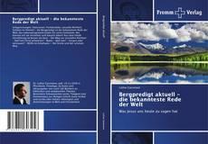 Bookcover of Bergpredigt aktuell -  die bekannteste Rede der Welt