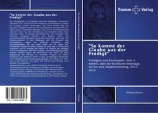 """Buchcover von """"So kommt der Glaube aus der Predigt"""""""
