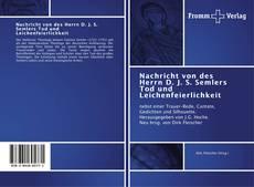 Copertina di Nachricht von des Herrn D. J. S. Semlers Tod und Leichenfeierlichkeit