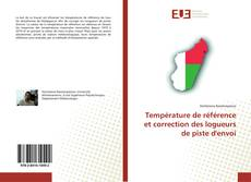 Portada del libro de Température de référence et correction des logueurs de piste d'envoi