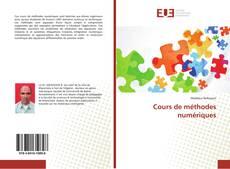 Couverture de Cours de méthodes numériques