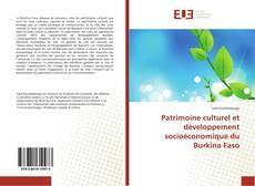 Borítókép a  Patrimoine culturel et développement socioéconomique du Burkina Faso - hoz
