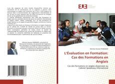 Couverture de L'Évaluation en Formation: Cas des Formations en Anglais