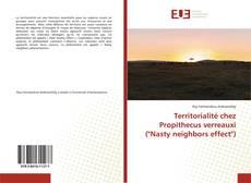 "Capa do livro de Territorialité chez Propithecus verreauxi (""Nasty neighbors effect"")"